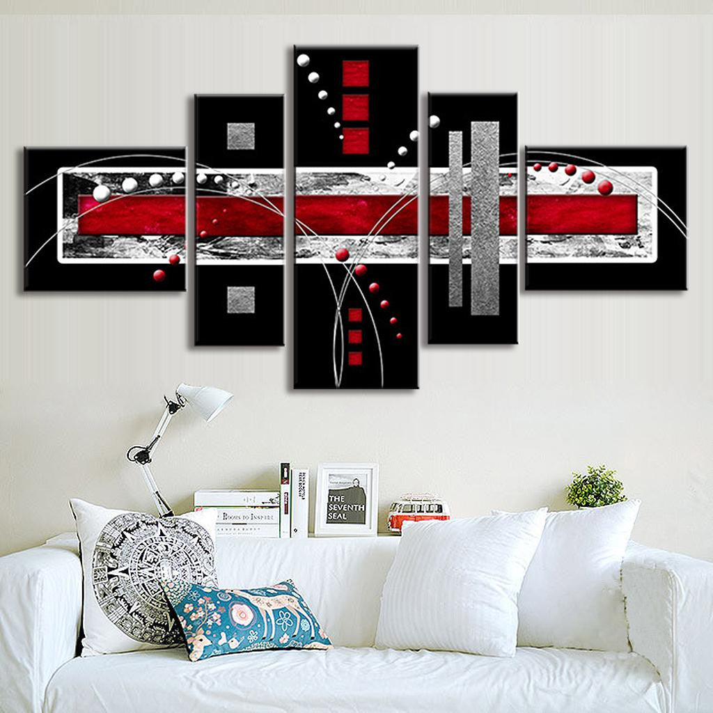 Red and Gray Abstract Rectangles