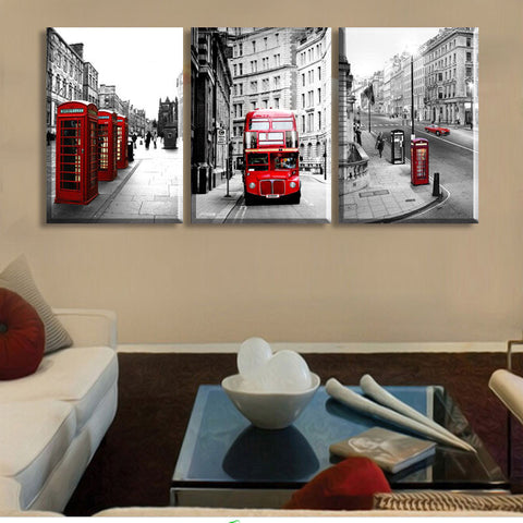 London Landscape - 3 Piece Panel Art - BigWallPrints.com - 2