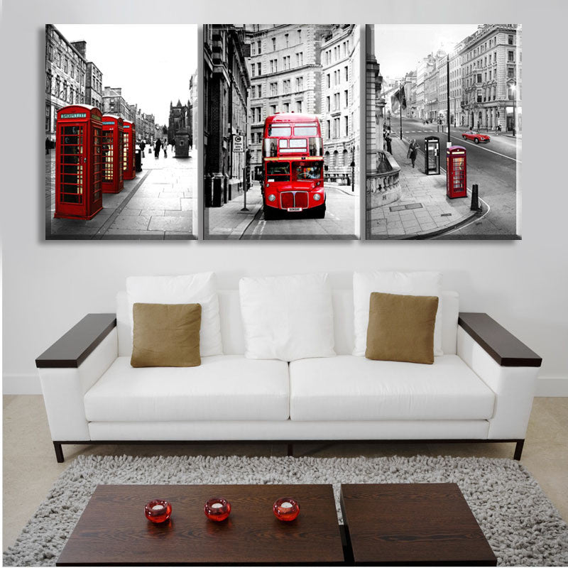 London Landscape - 3 Piece Panel Art - BigWallPrints.com - 3