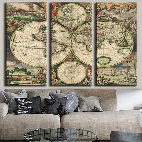 European Style Old World Map