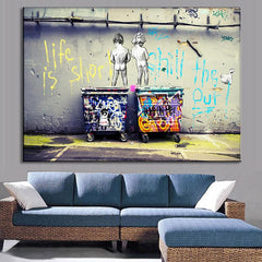 Life is Short, Chill the Duck Out - Canvas Art - BigWallPrints.com - 6