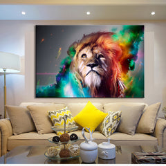 Colorful Abstract Lion