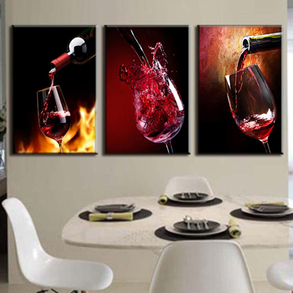 Modern Wine Glass Abstract