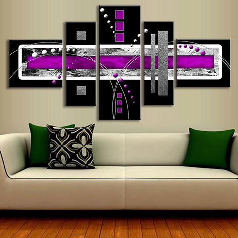 Abstract Purple and Black Design
