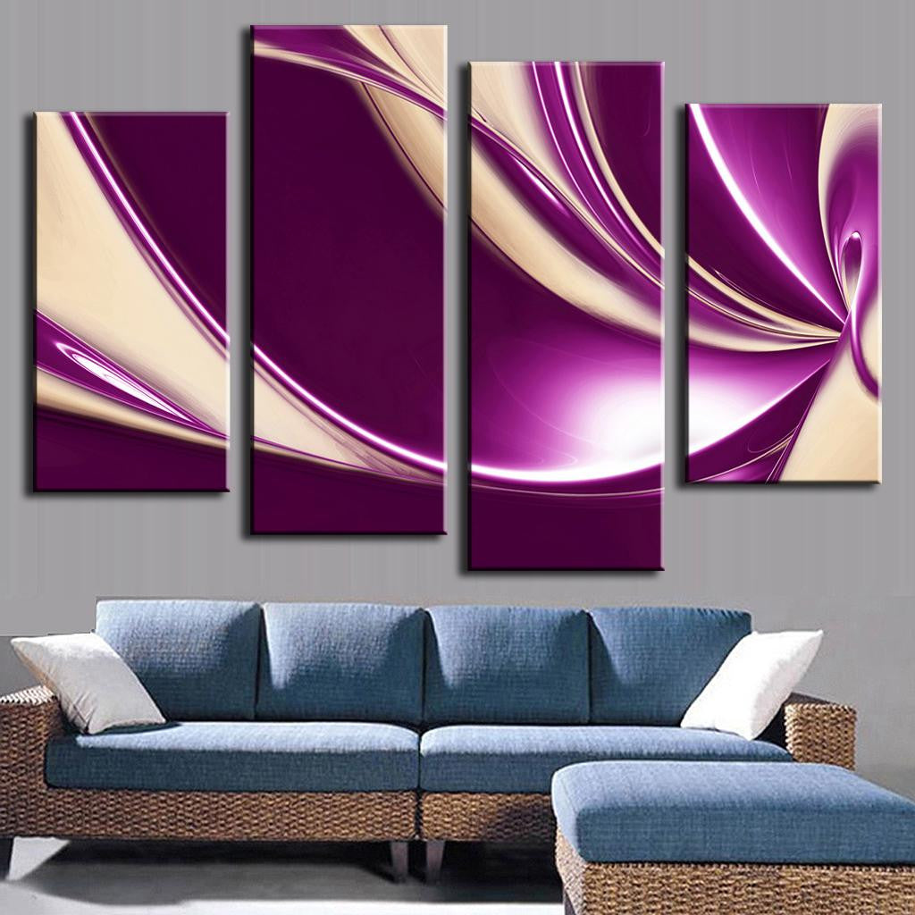 Modern Purple Swirls