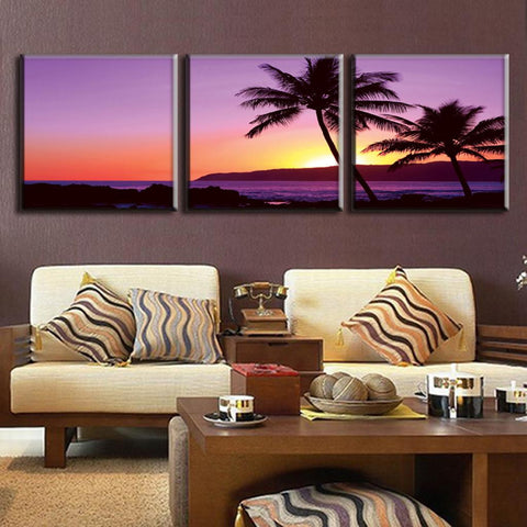 Purple Seascape Sunset