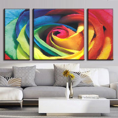 Abstract Rose with Colors