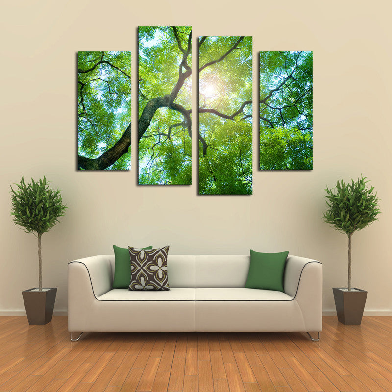 Sunlight Behind Tree - 4 Panel Canvas - BigWallPrints.com - 3
