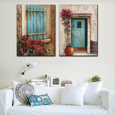 Abstract Window Door Design