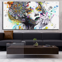 Abstract Girl - Panel Art - BigWallPrints.com - 1