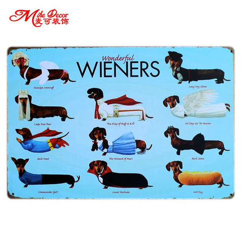 Wonderful Wieners Metal Sign - BigWallPrints.com