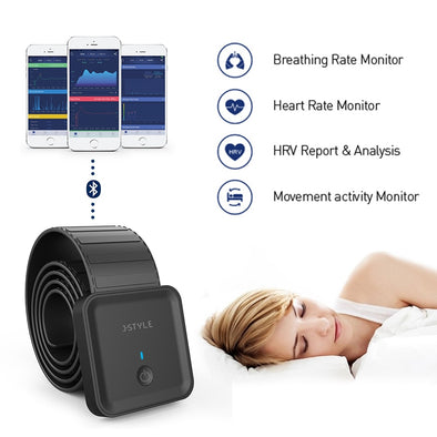 Smart Bluetooth Heart Rate/ Sleep Monitoring Bed Strap Sensor with APP - Biometric Sports Solutions