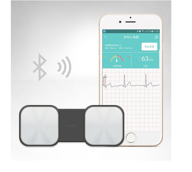 Handheld ECG Heart Monitor for Wireless Heart Performance for ios Android
