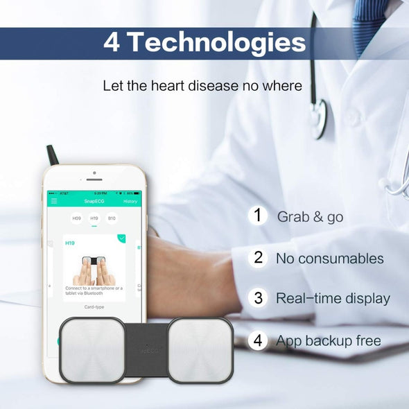 Handheld ECG Heart Monitor for Wireless Heart Performance for ios Android - Biometric Sports Solutions