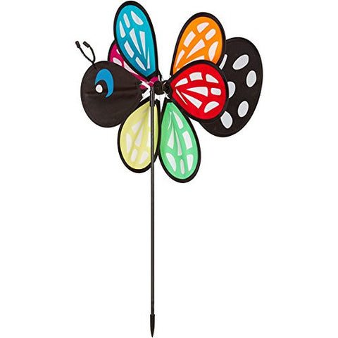 Butterfly Garden Spinner (12-in Diameter)--Six Colorful Wings Spin in the Wind