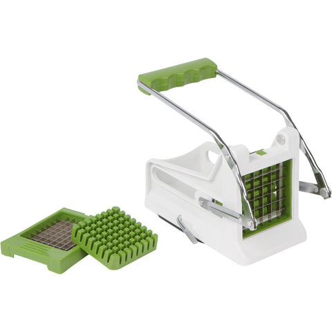 Potato Frech Fry Cutter with Strong Suction Base and 2 Stainless Steel Interchangeable Grid Blades