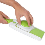All-In-One Adjustable Mandoline Slicer - 4 Interchangeable Blades - Fruit, Vegetable, Cheese Slicer. Peeler & Julienne Blades
