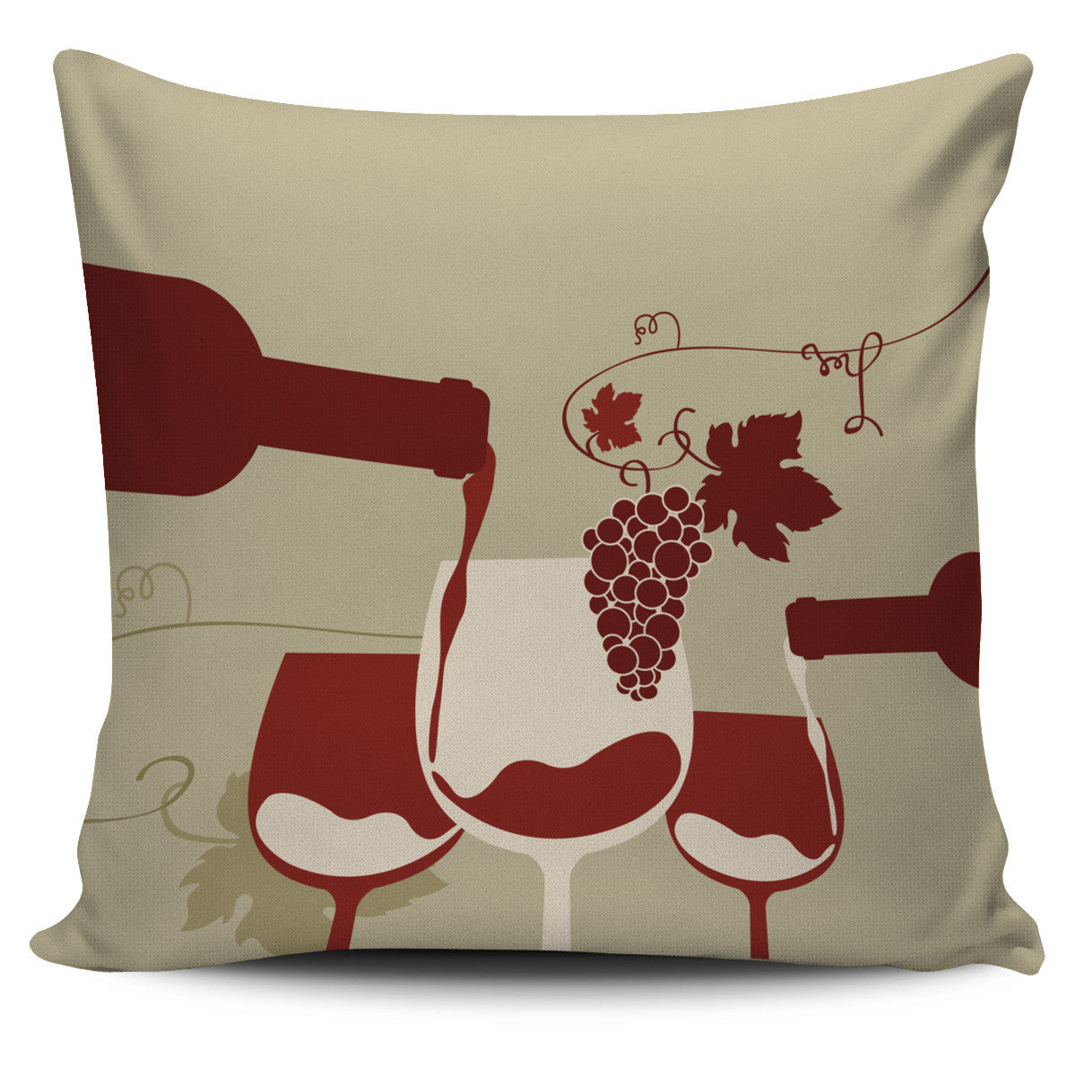 Wine Pillow Covers II Offer