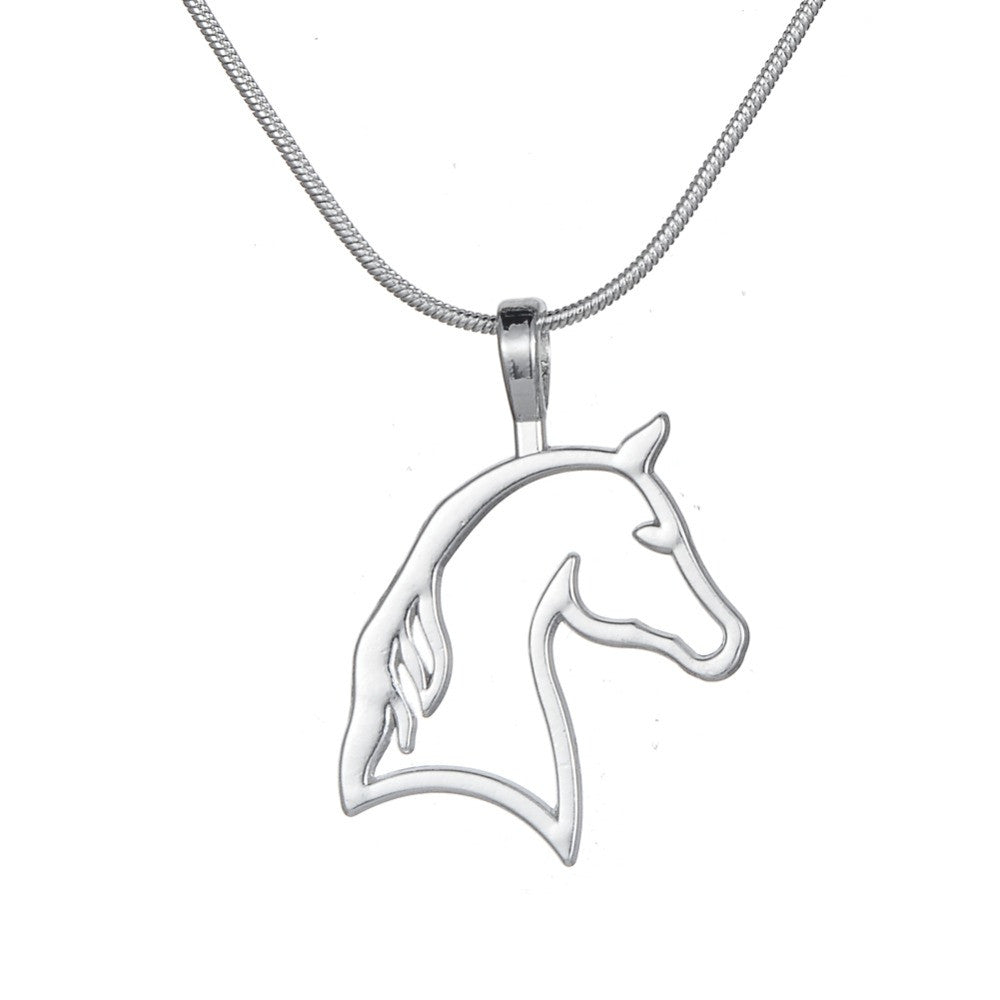Hollow Cut Horse Necklace Offer