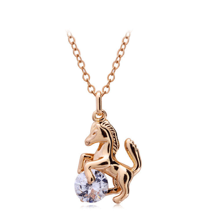 Horse Crystal Necklace Offer