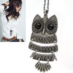Retro Owl Necklace