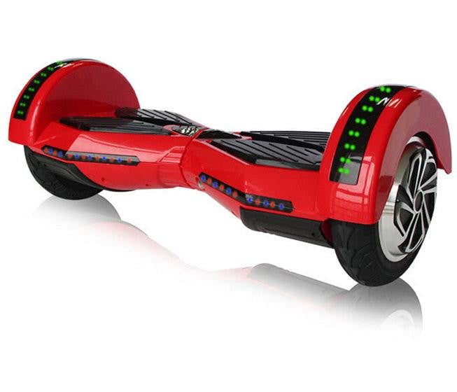 "8"" Wheel Ferrari Big Wheel Bluetooth LED Electric Smart Self Balancing Scooter Hover Board 2 Wheel TSB-8000"
