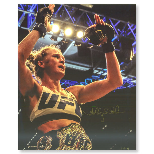 "Holly Holm - ""In Victory"" - 16""x20"" - Autographed Photo"