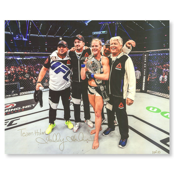 "Holly Holm - ""Team Holm"" - 16""x20"" Autographed Photo Series"