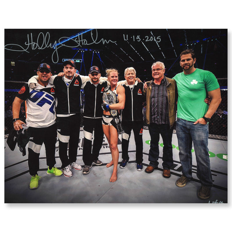 "Holly Holm - ""Team & Family"" - 11""x14"" - Autographed Photo"