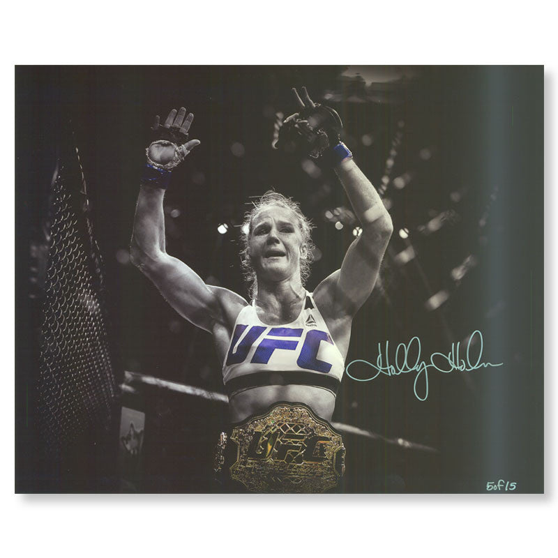 "Holly Holm - ""Victory"" - 16""x20"" Autographed Photo"