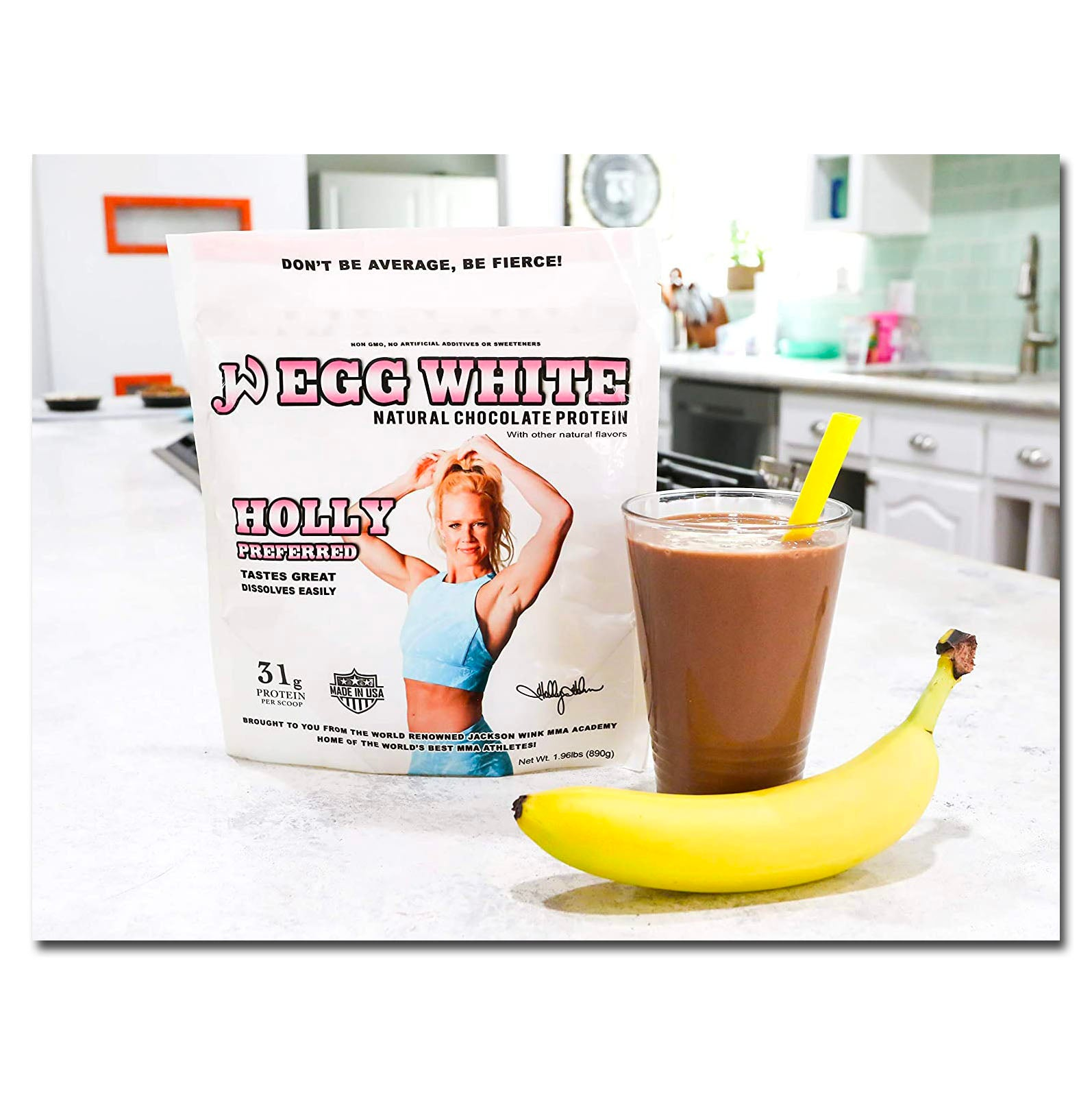 Jackson Wink Nutrition Chocolate Egg White Protein Powder