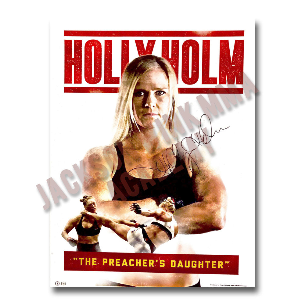 "Holly Holm Poster - 12.25"" x 17.37"" - Autographed Poster"