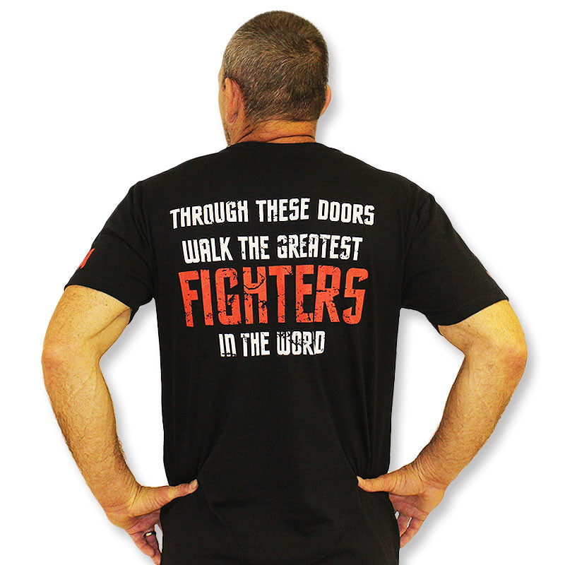 """Through These Doors..."" JW MMA, Albuquerque, New Mexico T-Shirt"