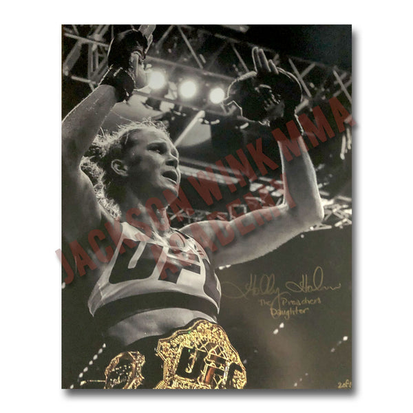"Holly Holm - ""The Champion"" - 16""x20"" - Autographed Photo Series"
