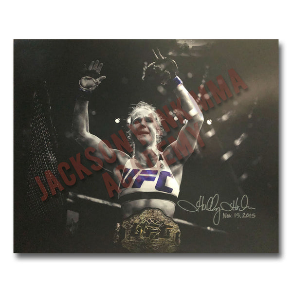 "Holly Holm - ""Nov. 15, 2015"" 16""x20"" Autographed Photo"