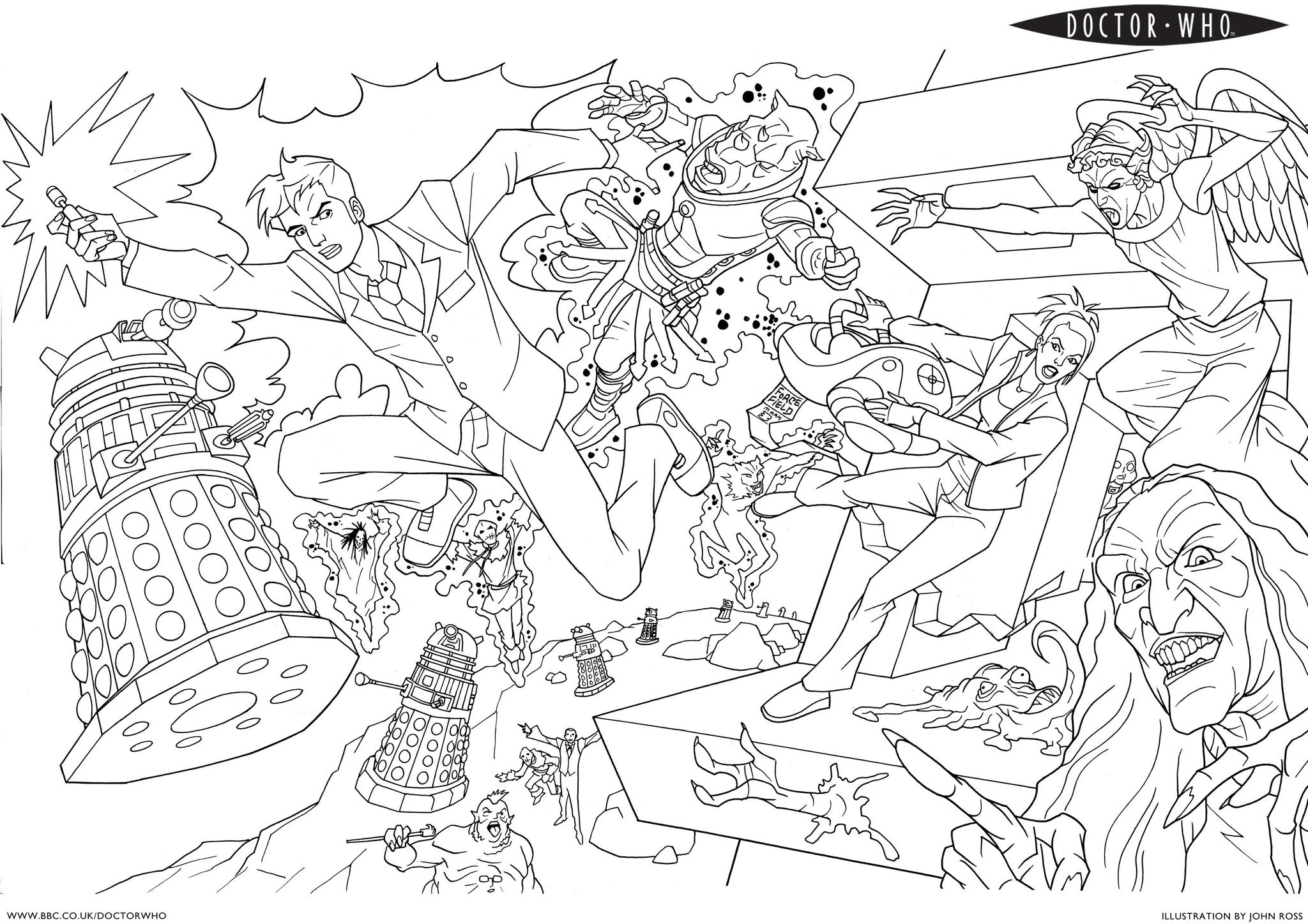 Dr Who Adult Colouring Book