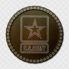 Engraved snuff lid Military