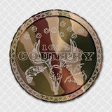 100 Percent Country, Diplidz, snuff can lids, tobacco can lid, copenhagen, skoal cowboy, rodeo, horse, chewing tobacco dip can, engraved snuff lids, custom engraved tobacco lids, snuff lids, hunting, fishing, western