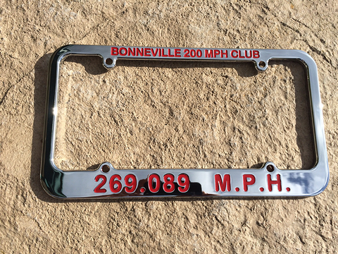 Bonneville 2 Club License Plate Frames - Center Point CnC