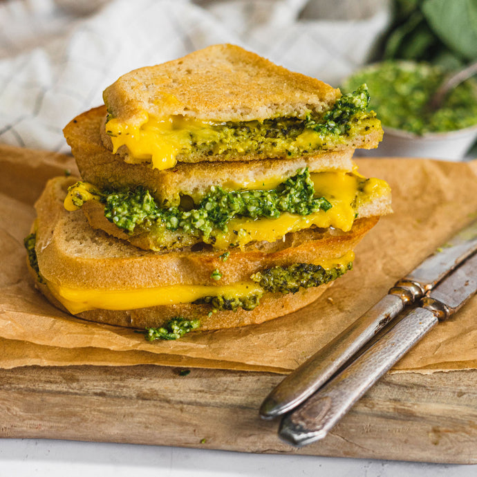Dairy-Free, Nut-Free Pesto Grilled Cheese Sandwich