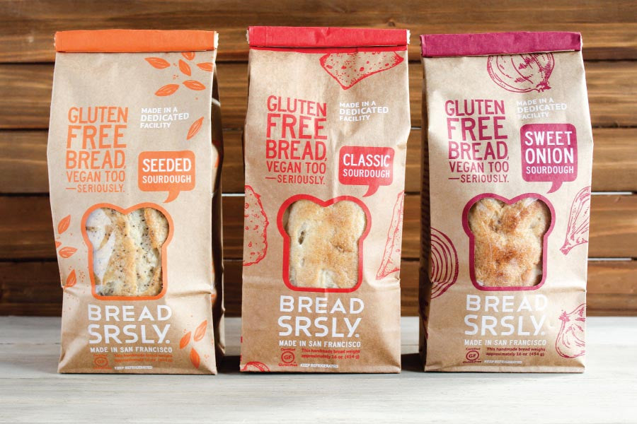 Bread SRSLY Gluten-Free Sourdough Choose Your Own Adventure 3-Pack, including Classic Sourdough, Seeded Sourdough, and Sweet Onion Sourdough