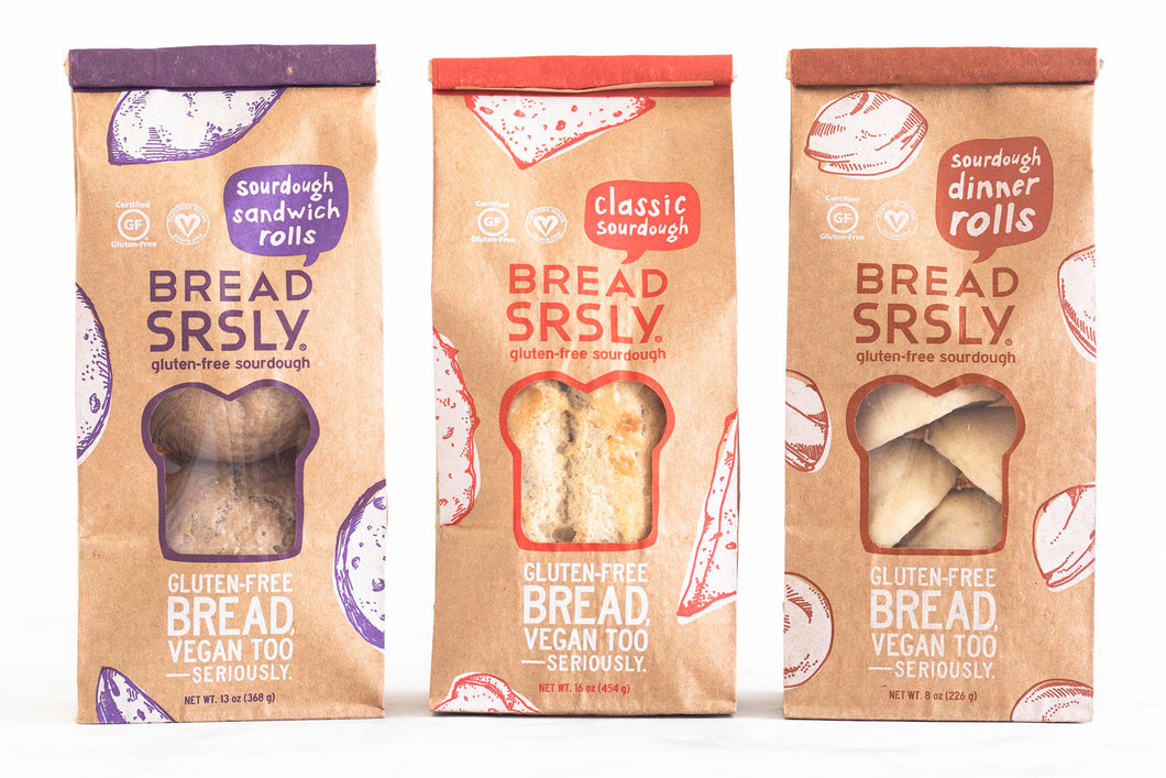 Bread SRSLY Gluten-Free Loaves and Rolls Sampler Pack