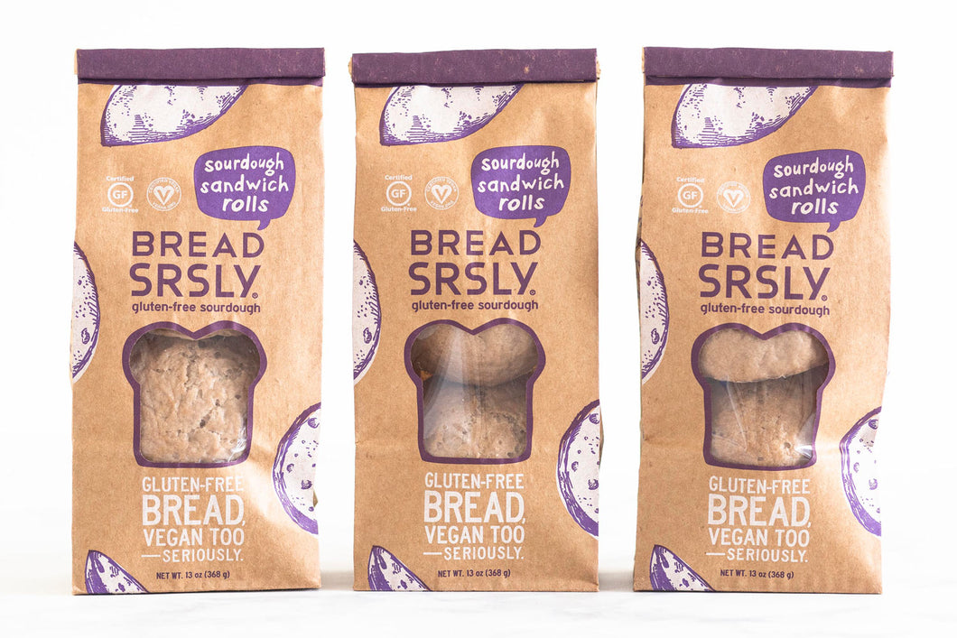 Bread SRSLY Gluten-Free Sourdough Sandwich Rolls