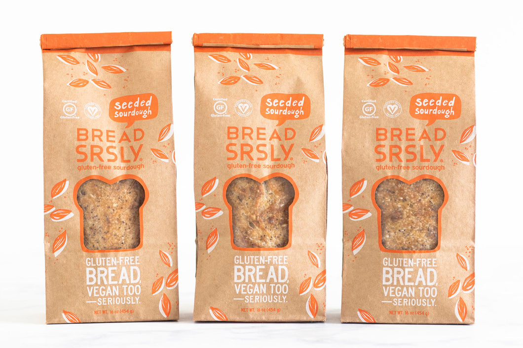 3-Pack of Bread SRSLY Seeded Gluten-Free Sourdough