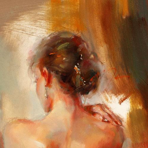 Aurora in Red Oil Painting by Anna Razumovskaya