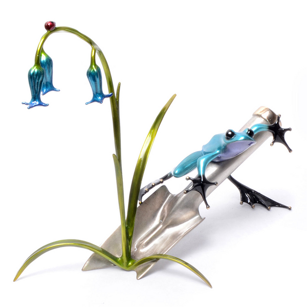 Bluebell bronze frog by Tim Cotterill