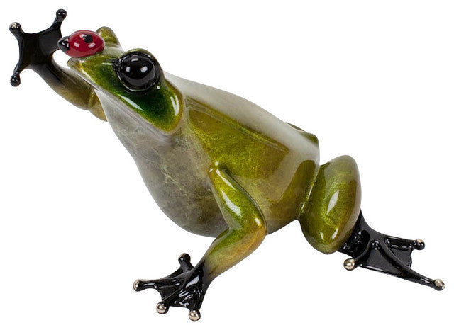 Bugsy bronze frog by Tim Cotterill