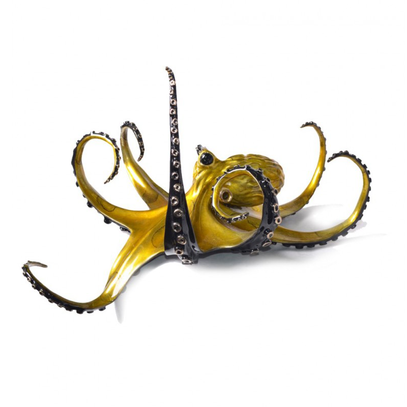 Champagne bronze octopus by Chris Barela