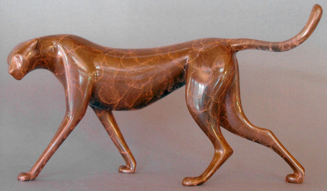 Cheetah Jewel bronze by Loet Vanderveen