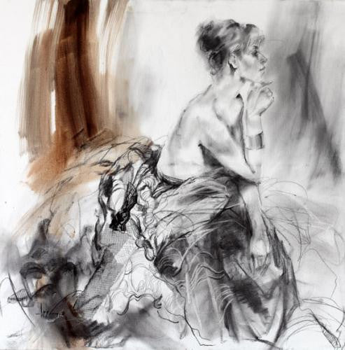 Contemplation 1 Oil Painting by Anna Razumovskaya